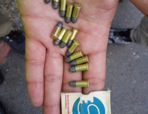 Strand CID Public Safety officers hand in discarded ammunition at Strand Police